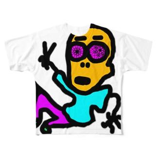 松屋の店員。 Full graphic T-shirts