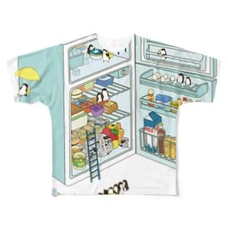 ペンギン サマーリゾート Full graphic T-shirts