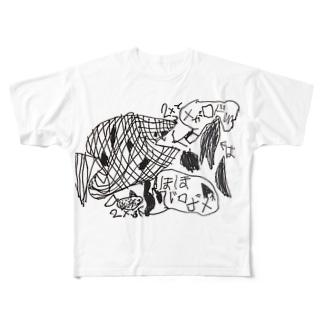 メガロドン Full graphic T-shirts