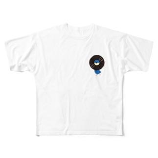 レコードリ月夜(ワンポイント) -Left Walk Full graphic T-shirts