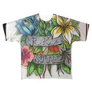 R.K.Shop- flowers Full graphic T-shirts
