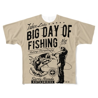 BIG DAY OF FISHING Full graphic T-shirts