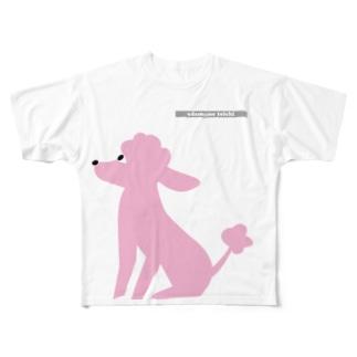 トイプードルのエダマメトイチpink Full graphic T-shirts