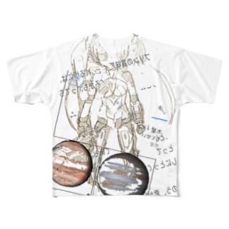 戦闘あらかると上級者 Full graphic T-shirts