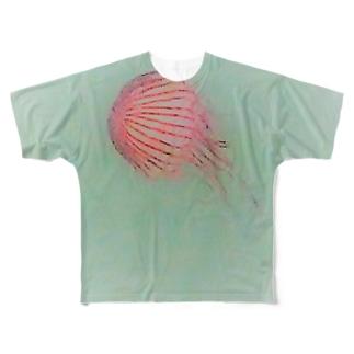 アカクラゲ Full graphic T-shirts