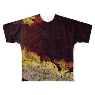 黒富士 Full graphic T-shirts
