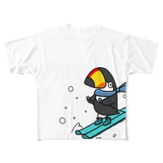 スキーヤー Full graphic T-shirts