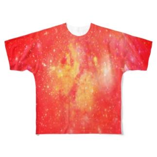 ファイヤーギャラクシー Full graphic T-shirts