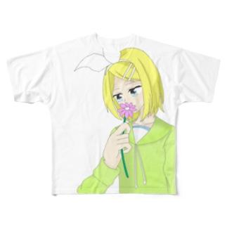 鏡音リン メランコリック Full graphic T-shirts