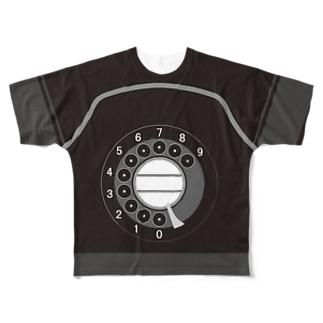 黒電話 Full graphic T-shirts
