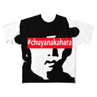 文学者×ボックスロゴフルグラフィックTシャツ中原中也 Full graphic T-shirts
