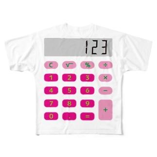 電卓ピンク Full graphic T-shirts