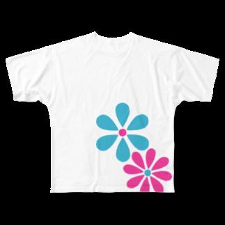 DAISY CREATE   デイジークリエイト   愛と情熱を日常で感じるのデイジーロゴ フルグラフィックTシャツ