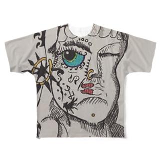 仏の心も…ナンダッケ? Full graphic T-shirts