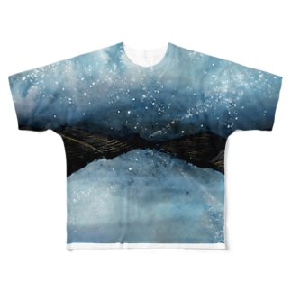 starry night Full graphic T-shirts