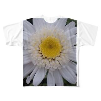 真っ白く・・・清らかに Full graphic T-shirts