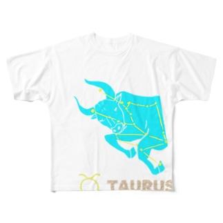 おうし座グッズ Full graphic T-shirts