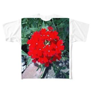 舞妓さんのかんざし Full graphic T-shirts