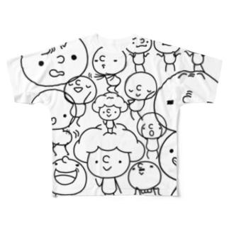 ぼんぼんモノトーン Full Graphic T-Shirt