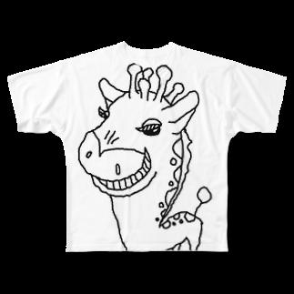 りぬりぬ@ぽツダム佐竹のキリンしゃん Full graphic T-shirts