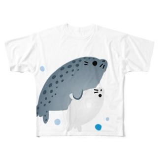 親子♥アザラシさん Full graphic T-shirts