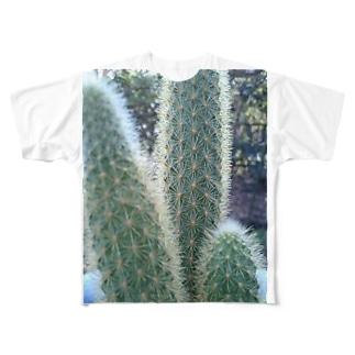 サボテンサボサボ Full graphic T-shirts