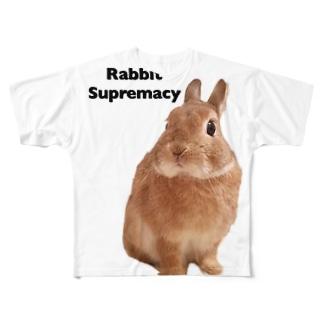 うさぎ至上主義 Full graphic T-shirts