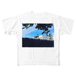 青空とグランドピアノ Full graphic T-shirts