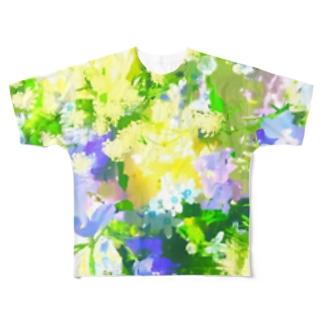 青いブーケ. Full graphic T-shirts