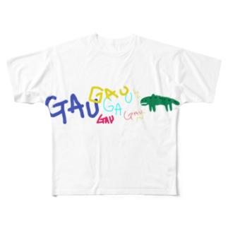 ガウくん叫ぶ Full graphic T-shirts