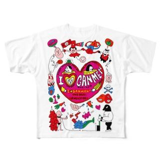 「I ♡ GANMEN!」〜ありがとうございます〜展 Full graphic T-shirts
