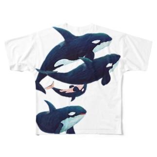 gomaphのシャチ群れ Full graphic T-shirts