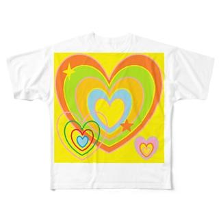 元気なハート ★ Full graphic T-shirts
