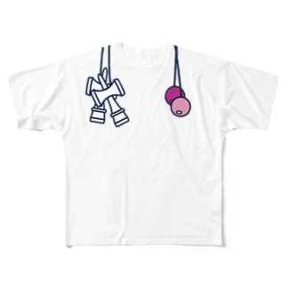 けん玉ルックTシャツ Full graphic T-shirts