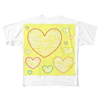 やさしいハート ★ Full graphic T-shirts