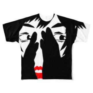 ちら見シリーズ-01 Full graphic T-shirts
