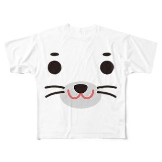 アザラシ-animal up-アニマルアップ- Full graphic T-shirts