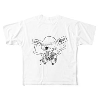 黄昏の秘密 Full graphic T-shirts