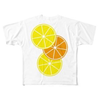 レモンとオレンジ Full graphic T-shirts