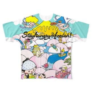 ミルク滝桃源郷カラーオールスターズ Full graphic T-shirts