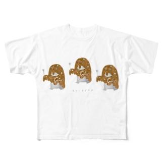 カレーオバケズ Full graphic T-shirts