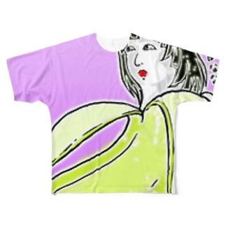 あけましてばなな Full graphic T-shirts