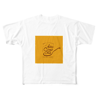 FUKUI CURRY CLUBのFUKUI CURRY CLUB ロゴ Full graphic T-shirts
