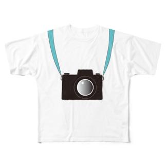 カメラ Full graphic T-shirts
