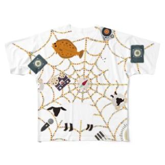 Spiderwebでべらと羊 Full graphic T-shirts