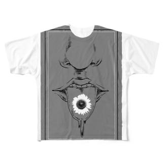 くち / モノ Full graphic T-shirts