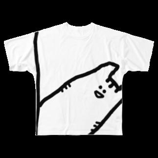 ぴ🌈のなんかゆるいねこ Full graphic T-shirts
