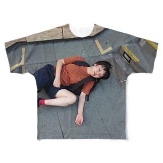 NO LIFE フルグラフィックTシャツ