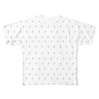 麦チョコ商店の組体操柄(小) Full graphic T-shirts