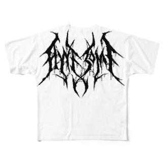 """ブルータル デスメタル ロゴ Tee """"AWESOME"""" All-Over Print T-Shirt"""